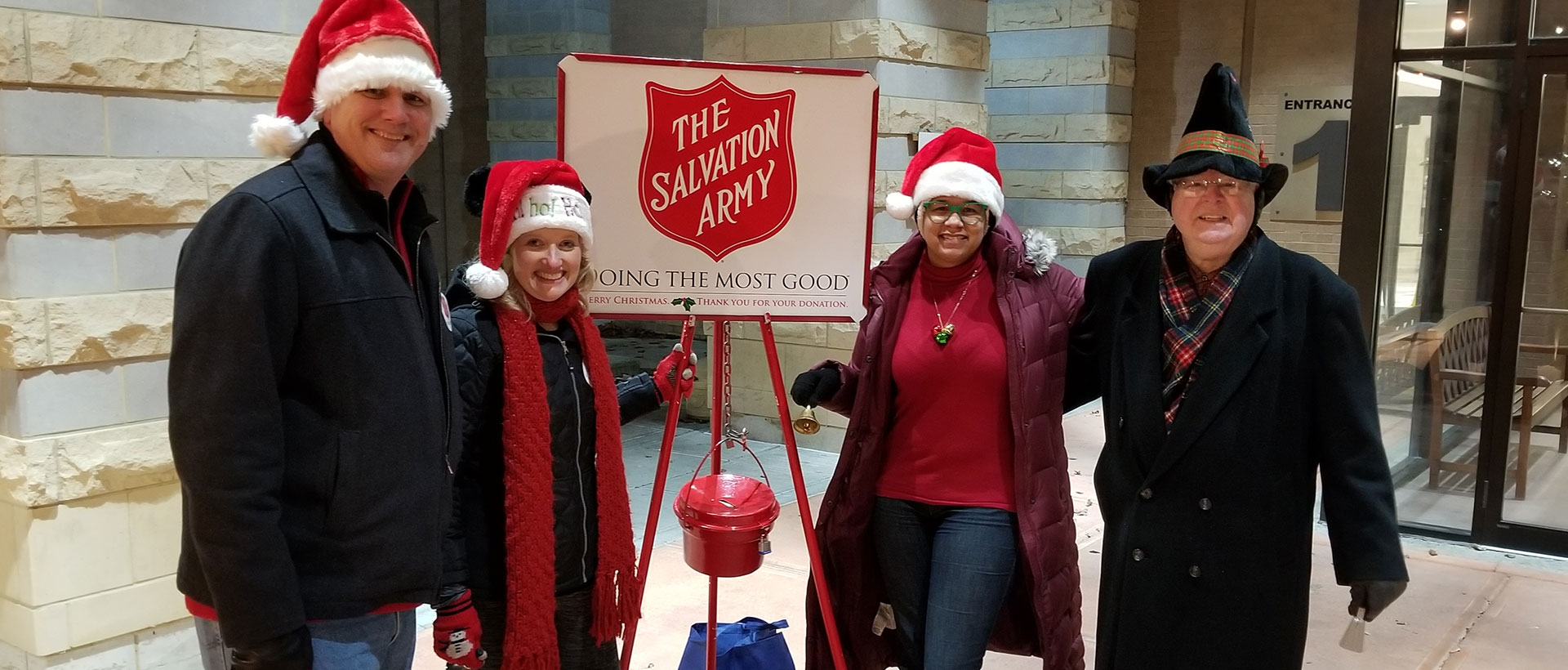 Rochester Rotary members volunteering for Salvation Army Christmas