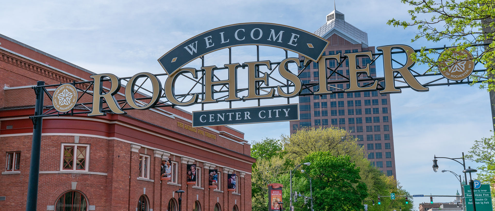 Welcome to Rochester Center City sign