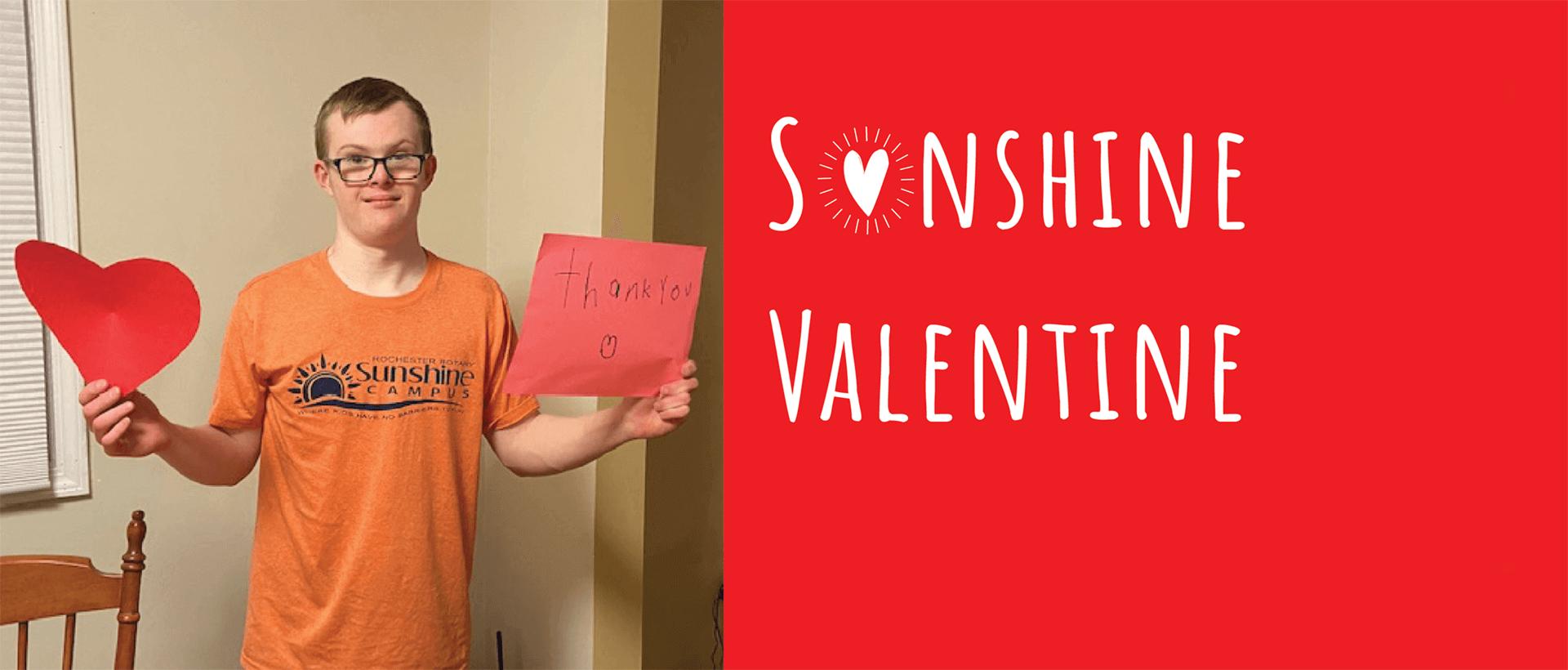 Sunshine Valentine banner